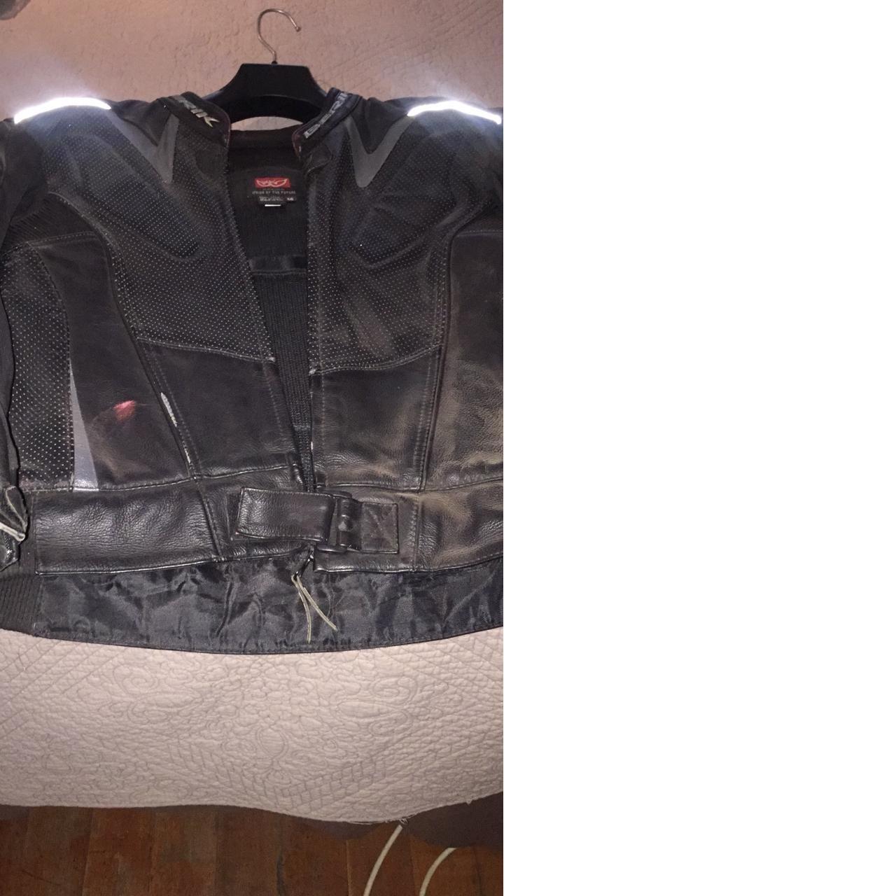 Biker leather suit size 56