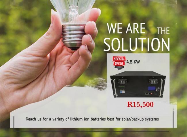 Lithium batteries for solar/backup systems 48v