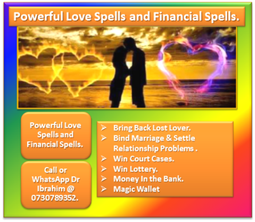 Powerful love spells and financial spells