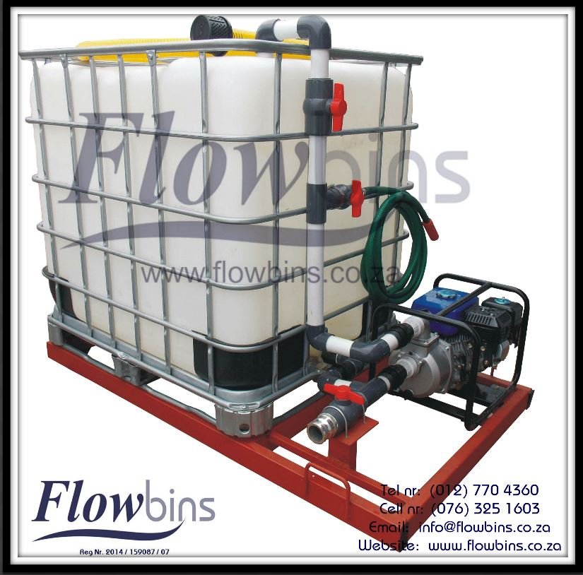 NEW 1000L Fire Fighters / Water Bowsers - Multi Purpose (Suction / Pumping / Mixing) from R7490