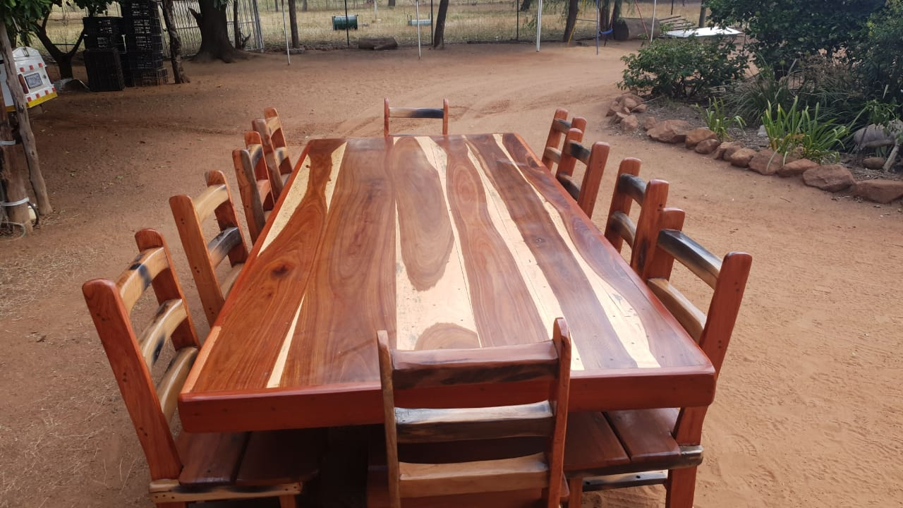 10 Seater Sleeper wood table