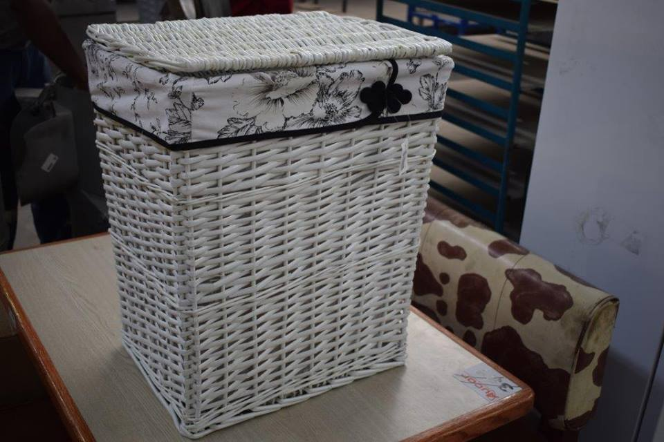 White basket bin for sale