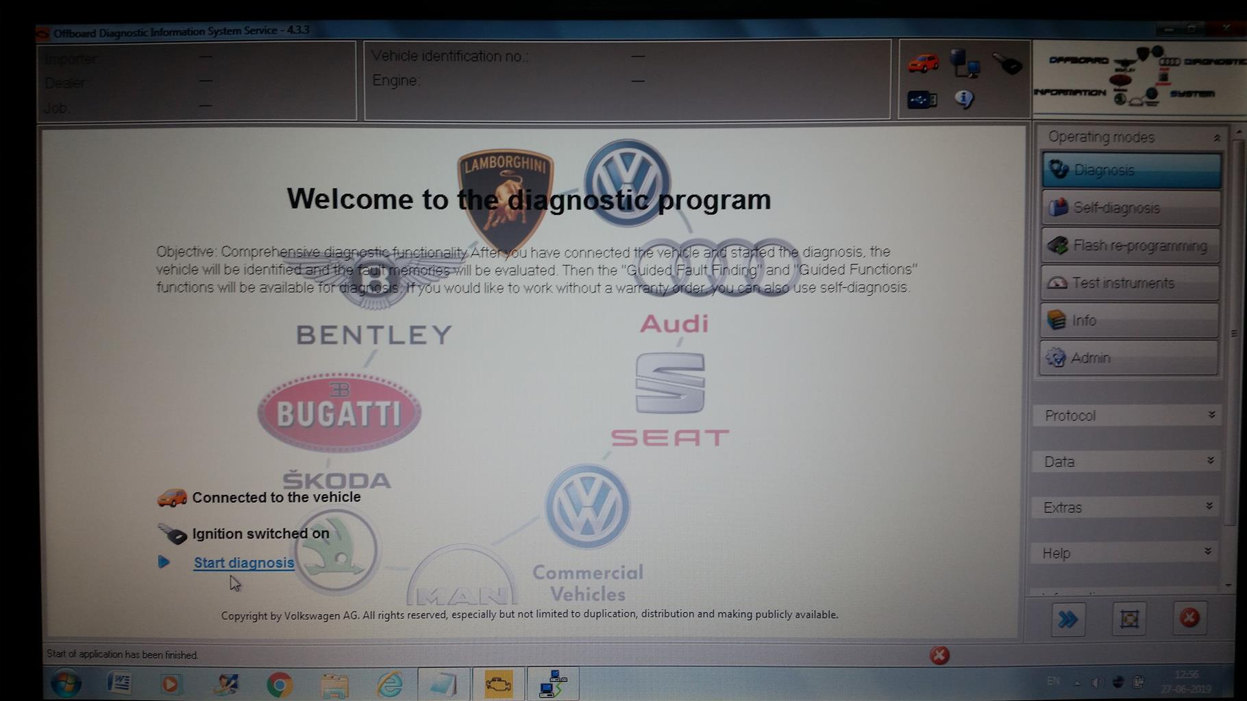 VW Audi Online/Internet Coding Programming for Component Protection removal, Clear Fault Codes.