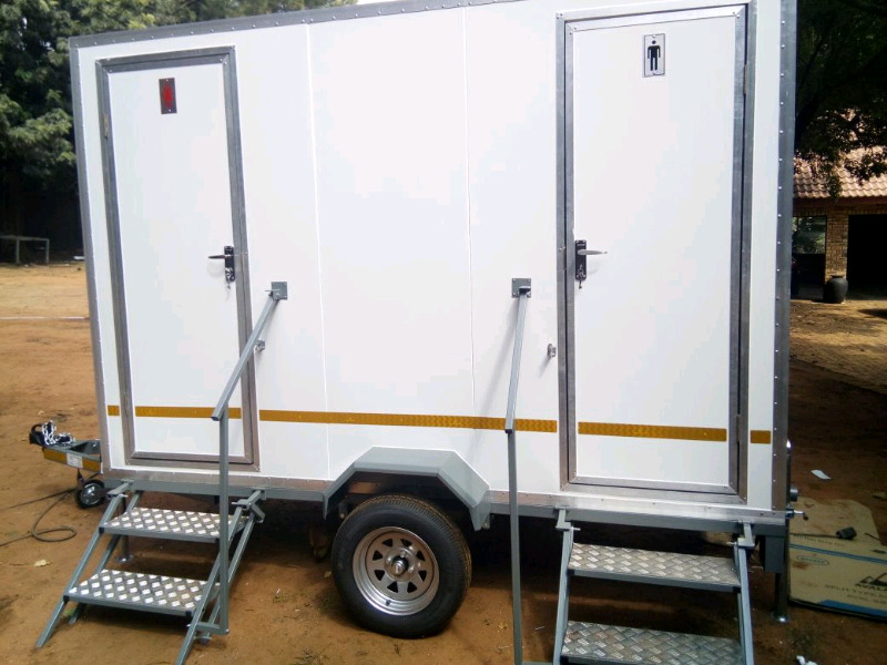 In stock Mobile Freezers & Toilet Trailers