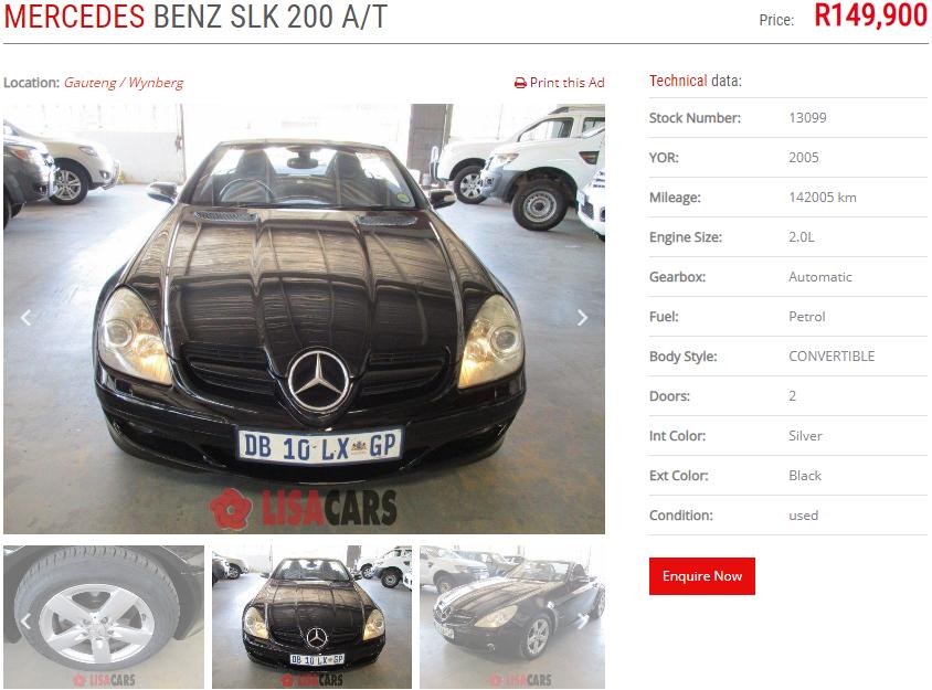 2005 Mercedes Benz SLK 200 auto