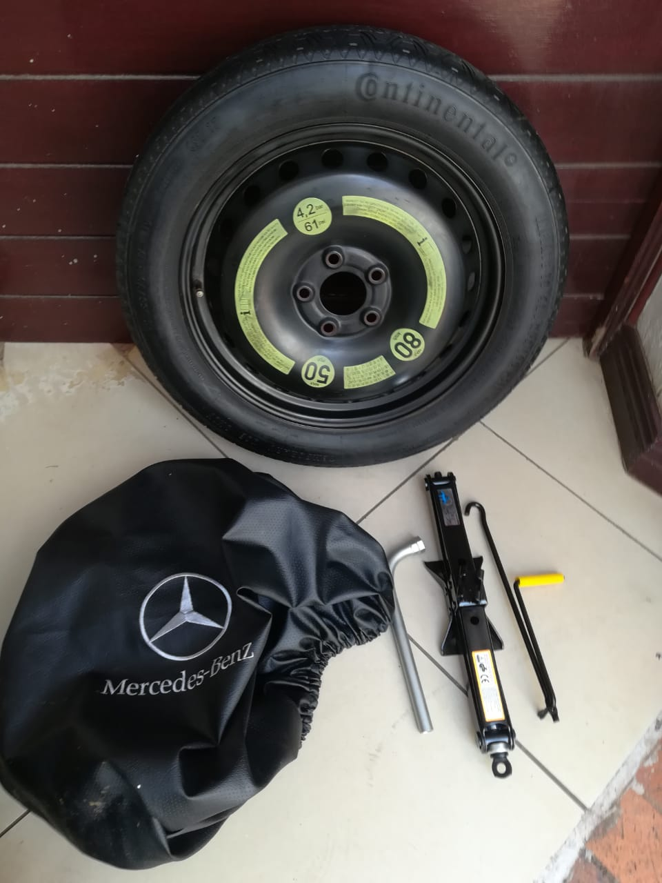 CLA 200 Original Mercedes Space Saver Spare Wheel kit with Bag  R3950