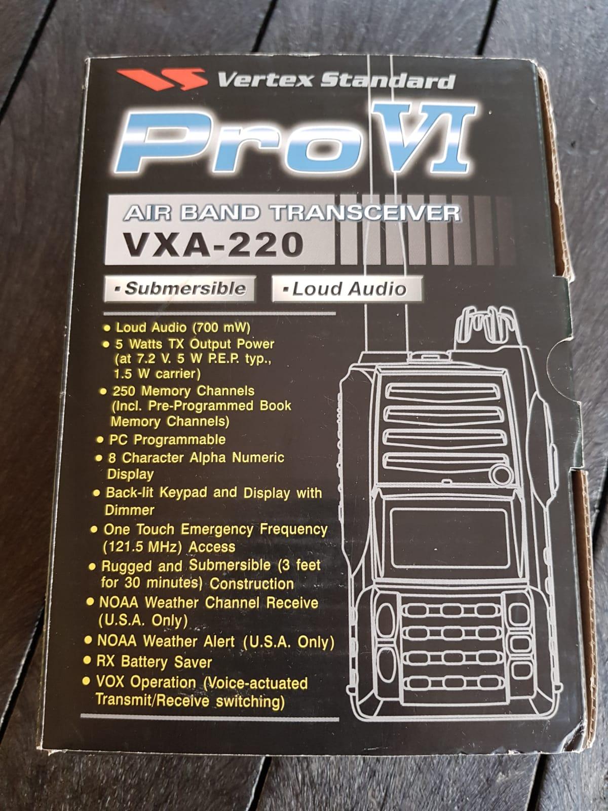 Pro VI - Air band transceiver VXA - 220