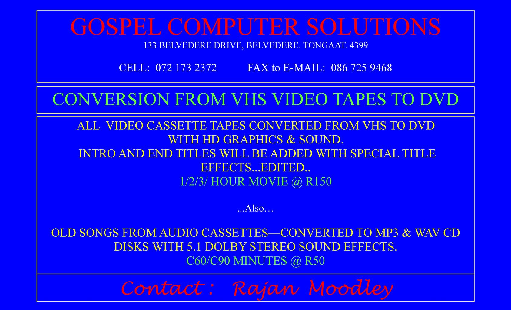 Gospel Computer Solutions