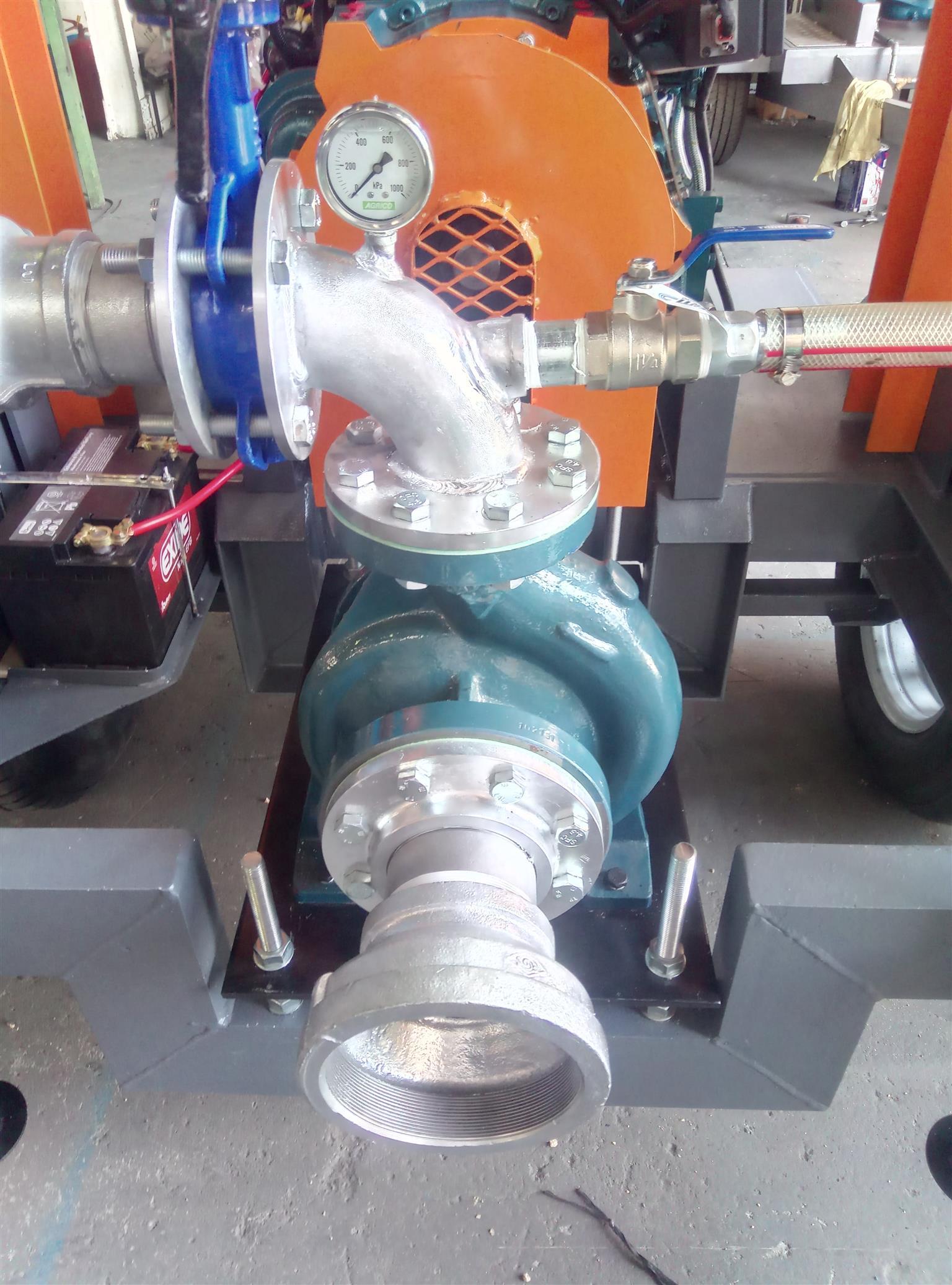 Diesel water pump. Irrigation pump. Water pump