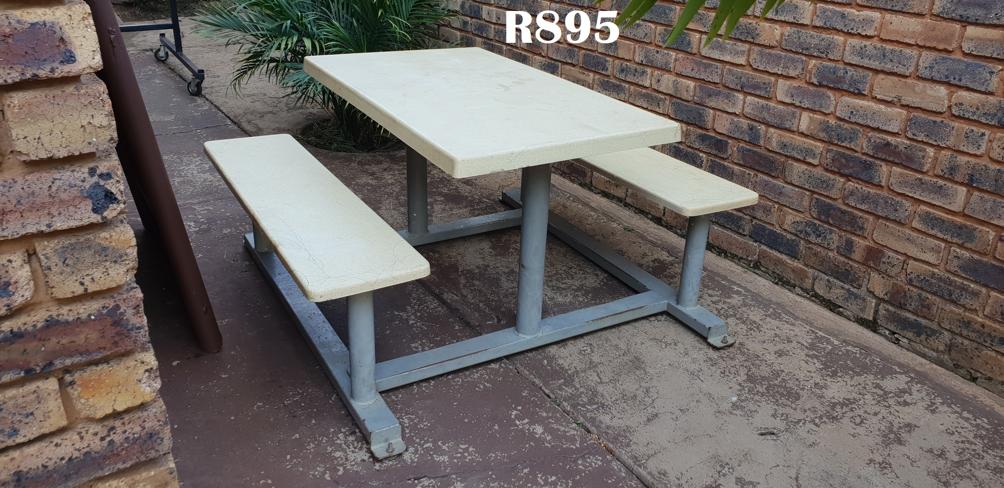 Outdoor Table Bench Combo (1200x1400x725)