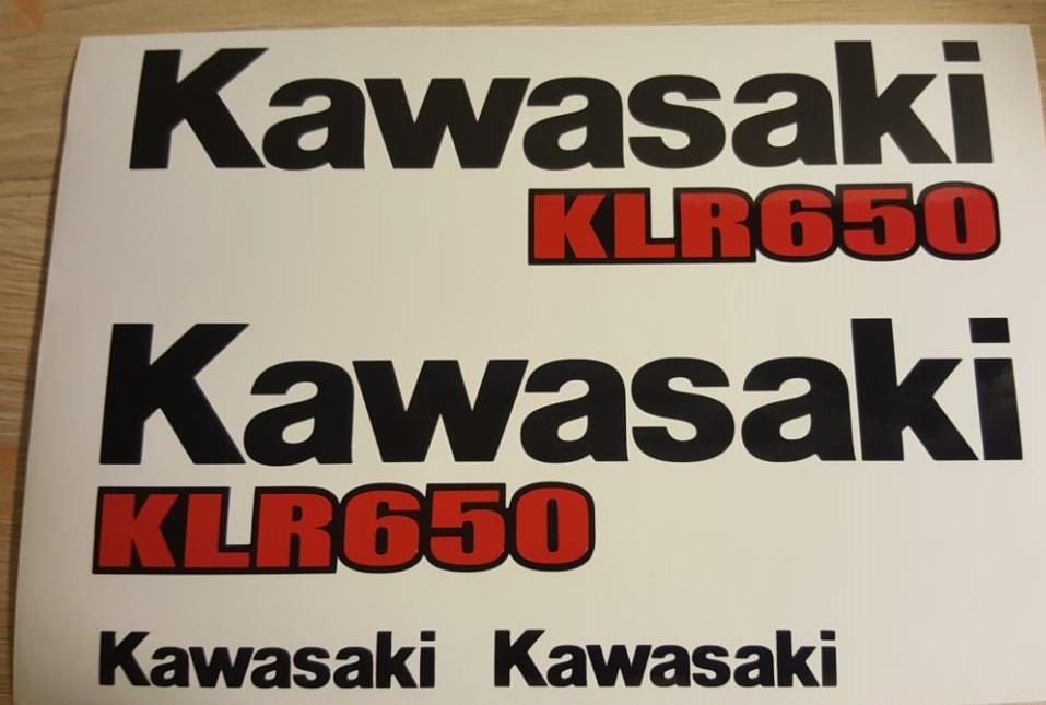 2008 Kawasaki KLR 650 graphics / stickers  / decal sets