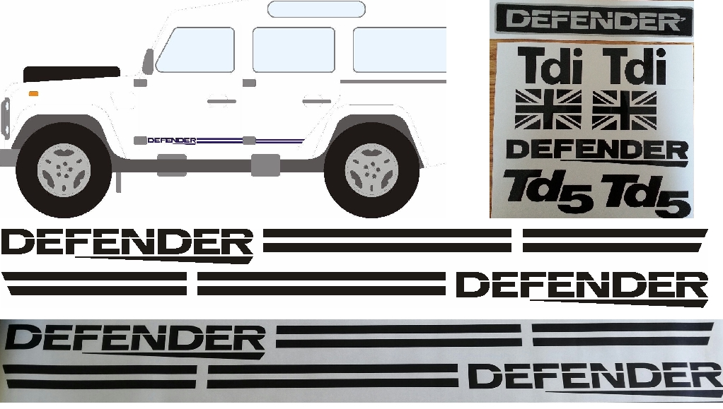 Graphics decals stickers kits for Land Rover Defender vehicles