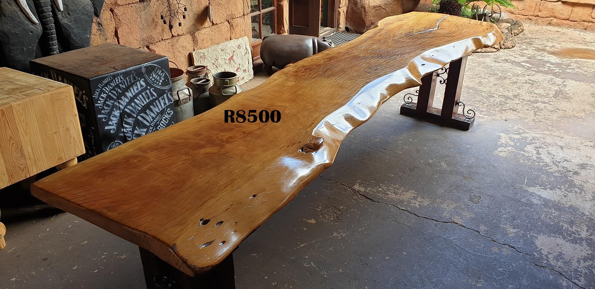 Massive Classique Wooden Slab Table (3460x920x815)