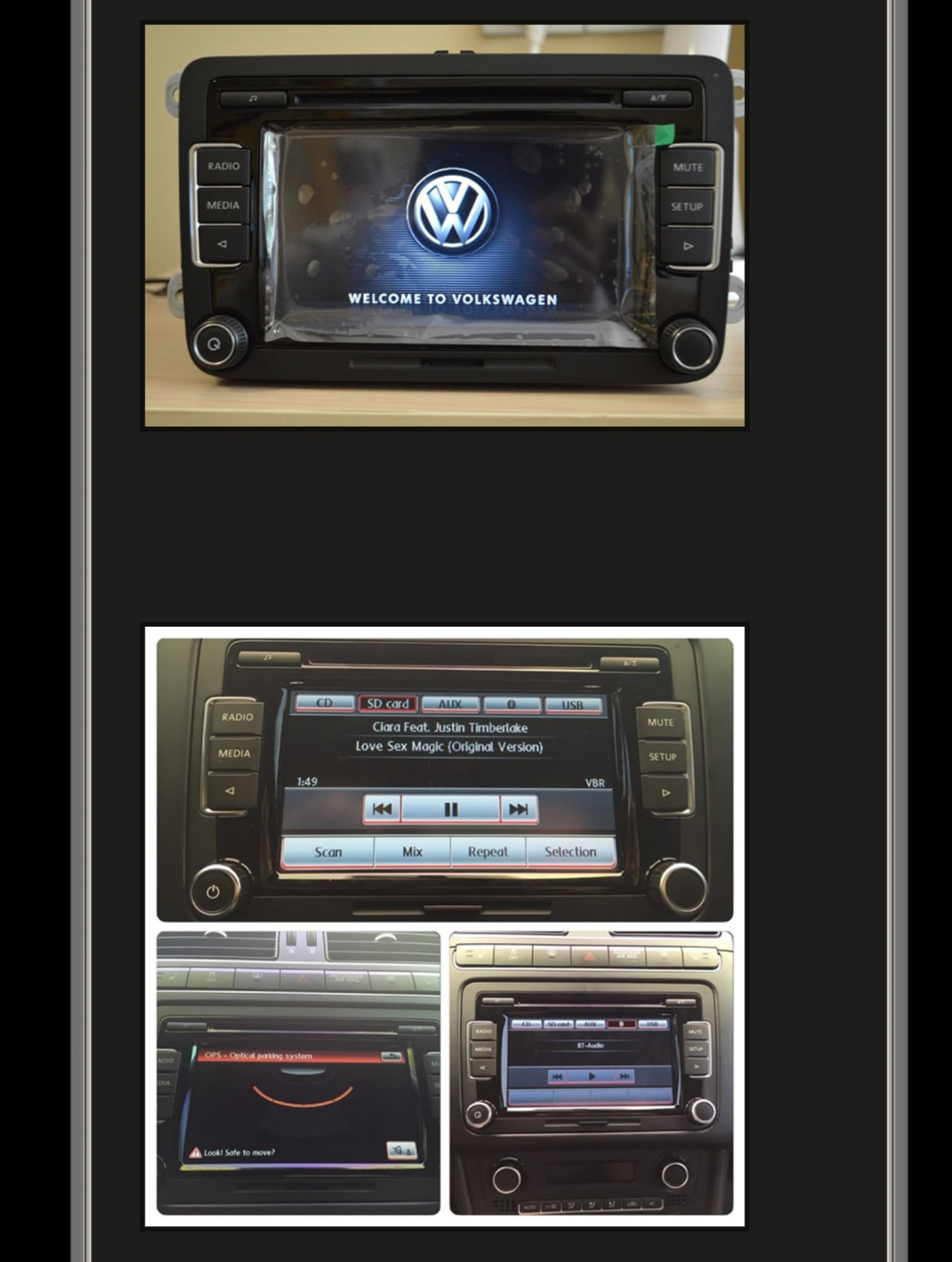 VW Radio RCD510 Touchscreen