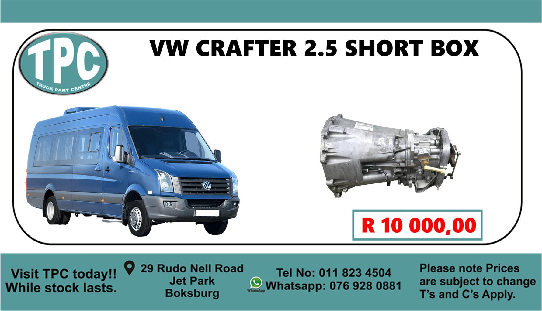 VW Crafter 2.5 Short Box - For Sale at TPC.