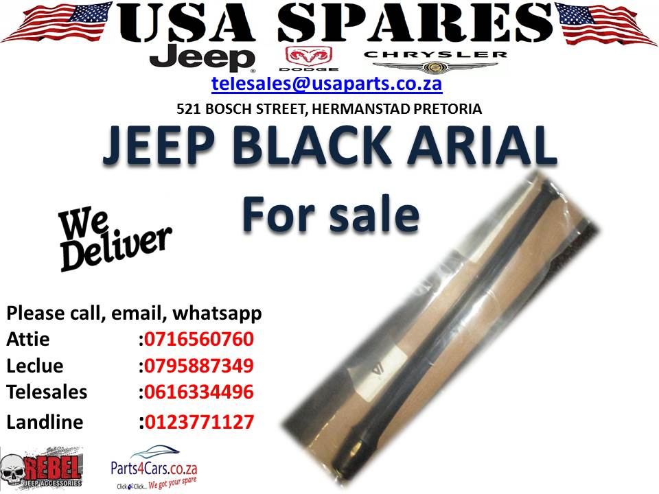 jeep black arial for sale