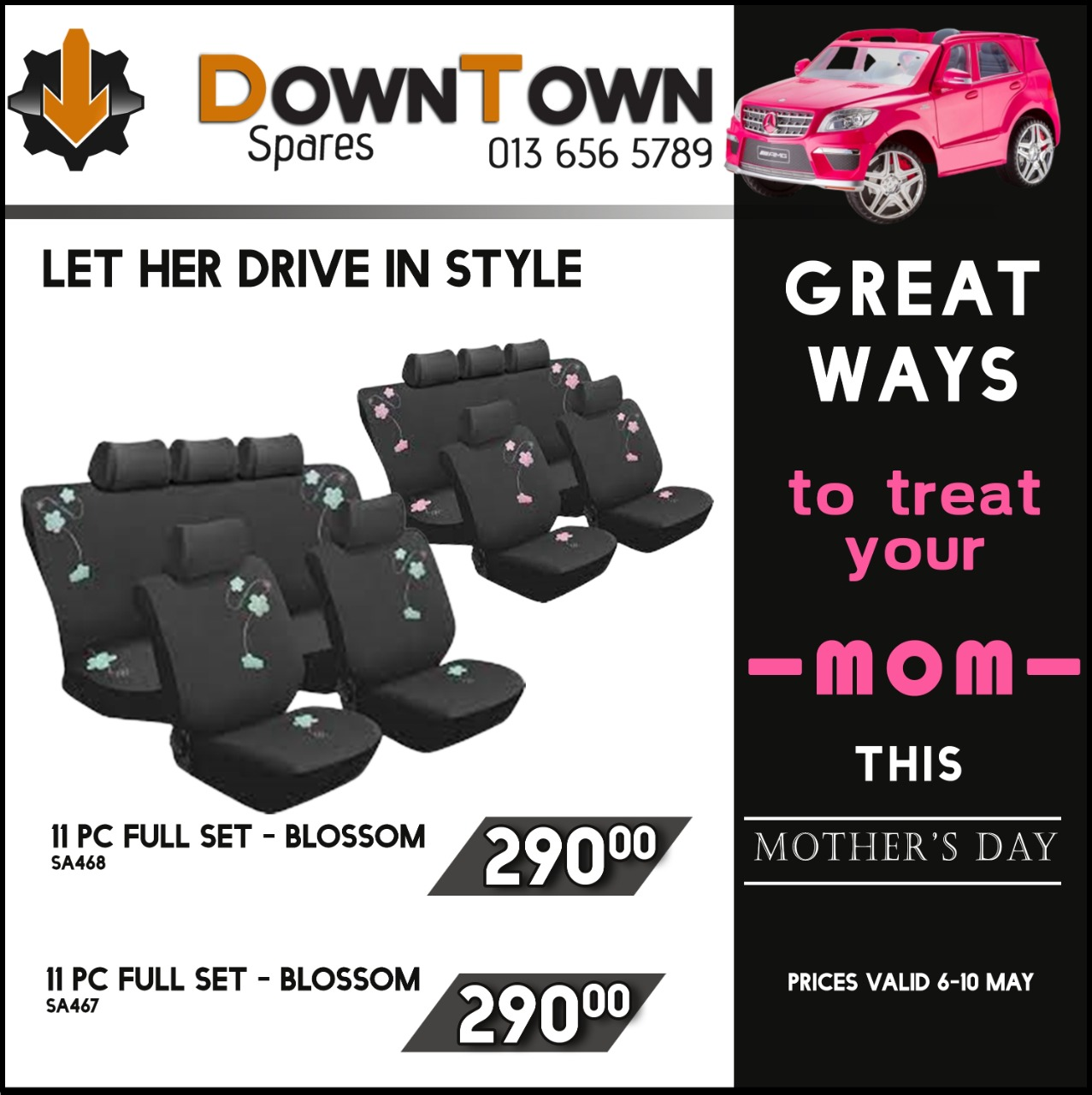 Great ways to Treat your Mom this Mother's Day at Downtown Spares!