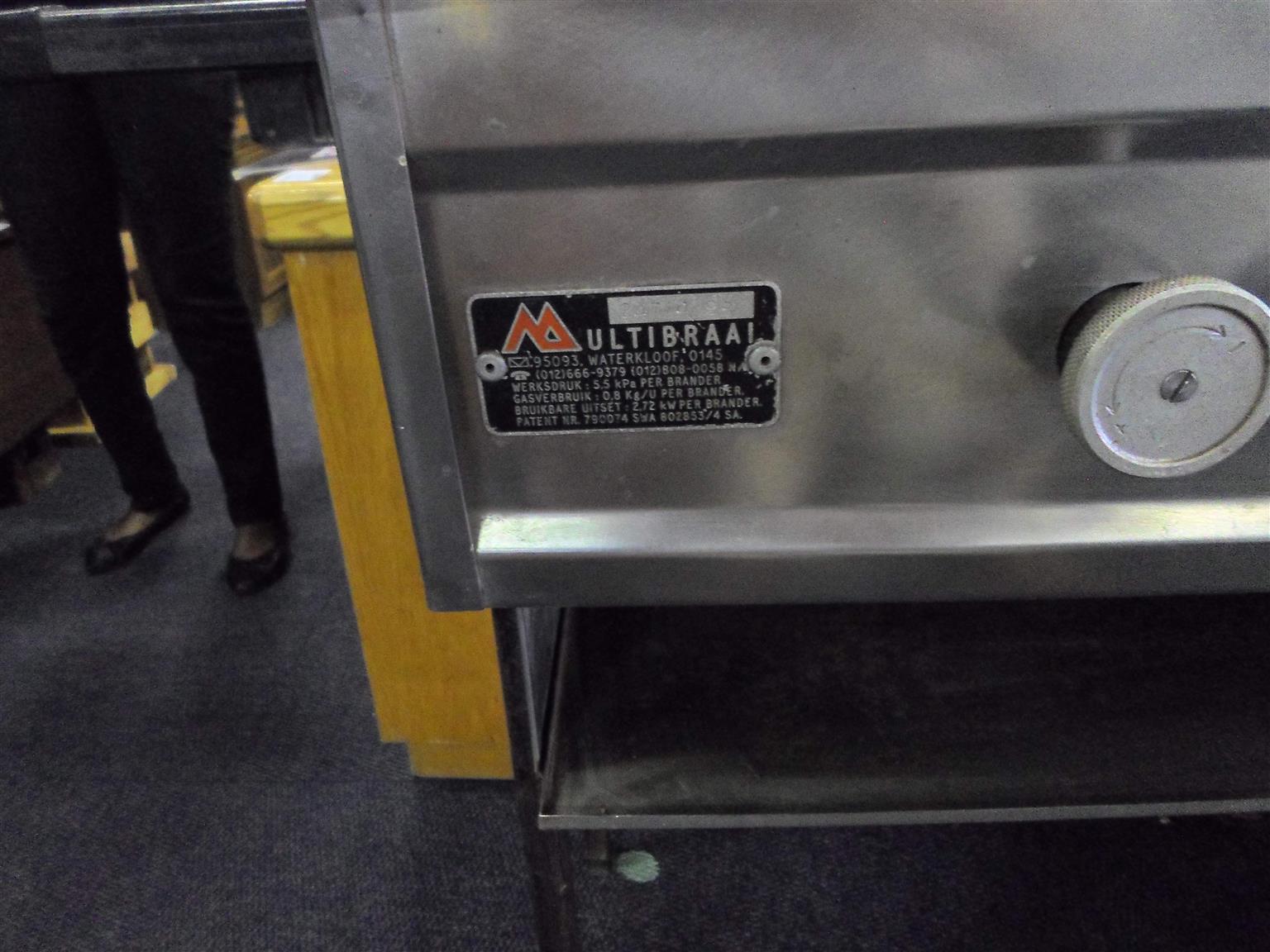 Multibraai Stainless Steel Gas Braai