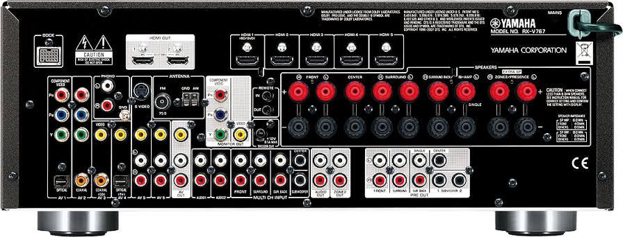 Yamaha rx-v767 av receiver