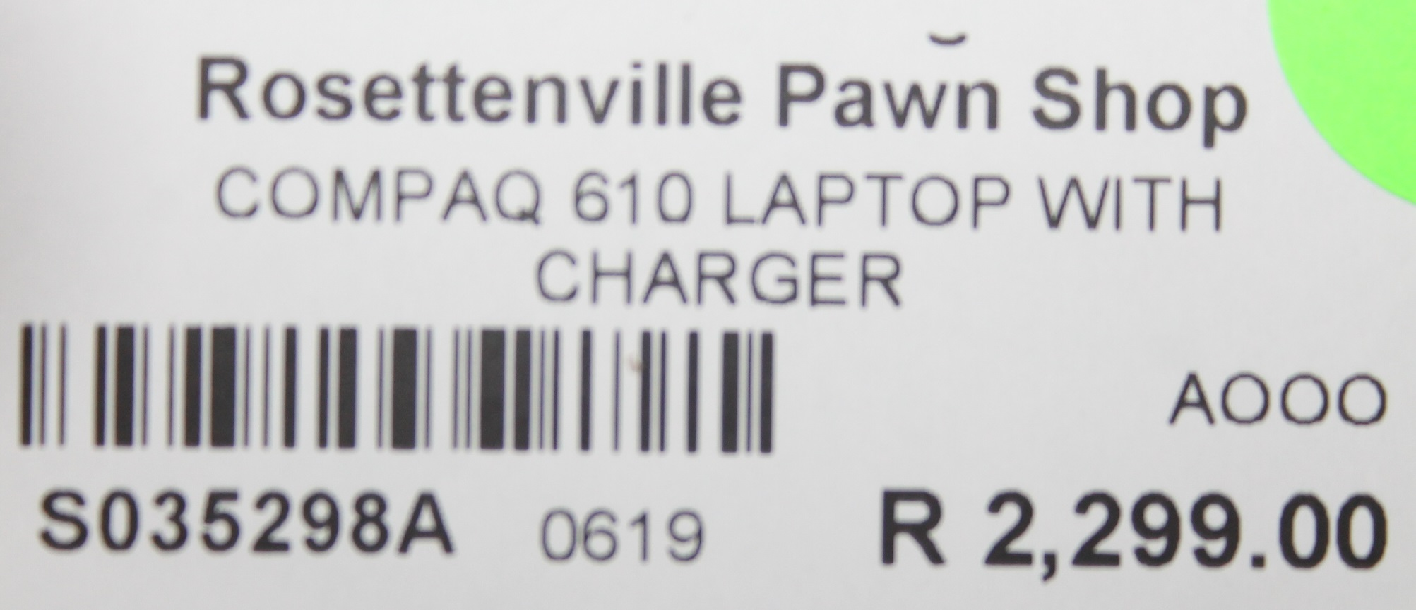 S035298A Compaq 610 laptop with charger #Rosettenvillepawnshop