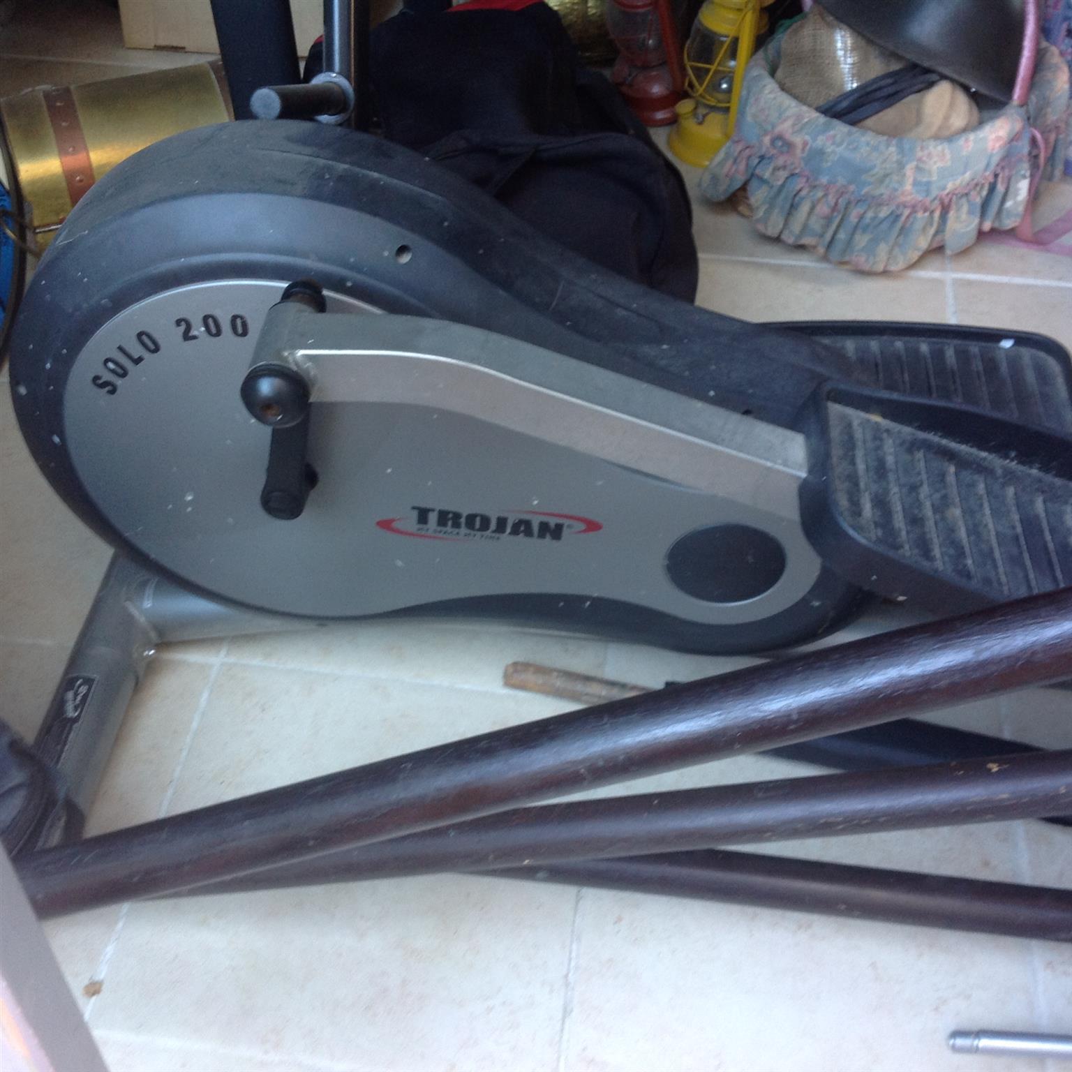 Trojan cycling gym and punching bag