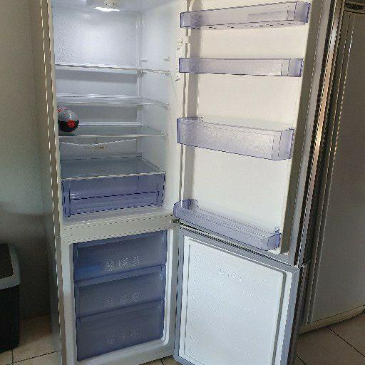 Defy black mirror metallic silver fridge-freezer