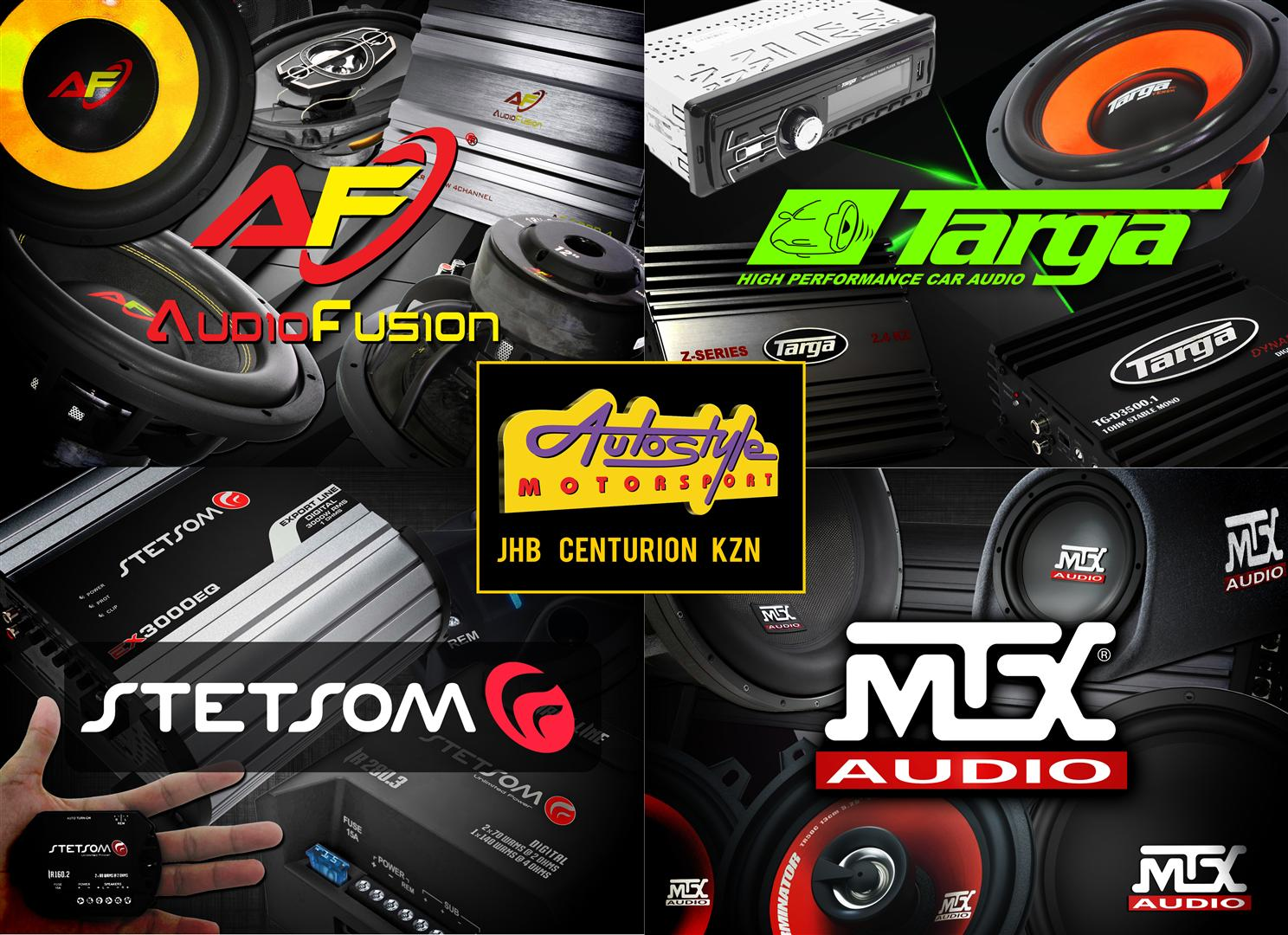 Autostyle Motorsport: Southern Africas largest auto accessory stores. Stocking the widest range car audio, mag alloy wheels & tyres, performance parts etc.  E&OE AUTOSTYLE MOTORSPORT WE BEAT ANY PRICE / OPEN 7 DAYS JHB Store: www.autostyle.co.za