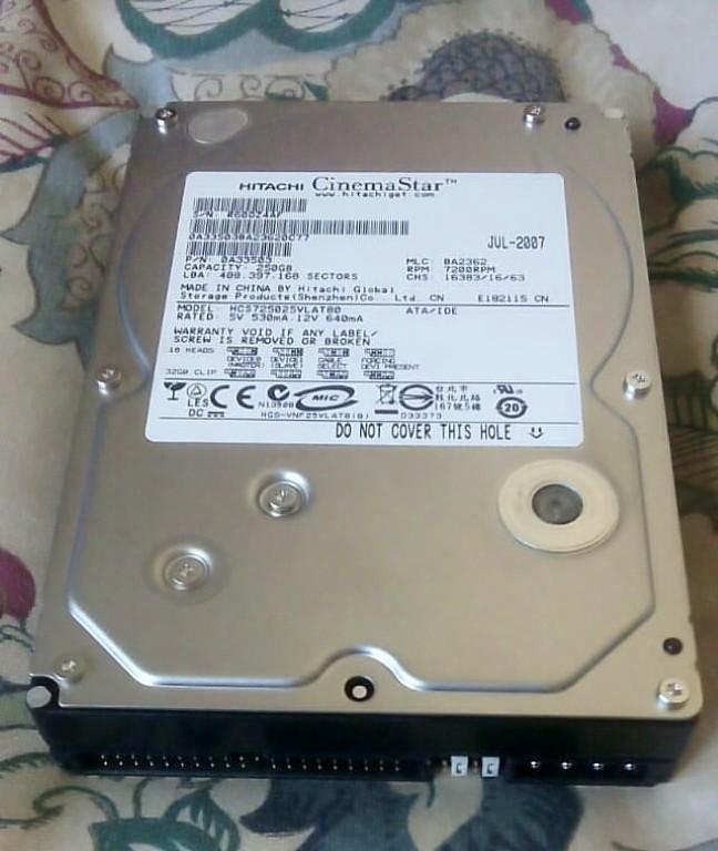 250 Gig IDE desktop hard drives. R200 each.