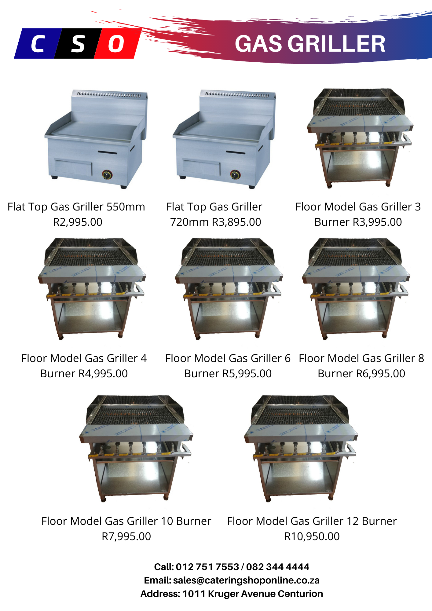 Flat Top Gas Grillers For Sale