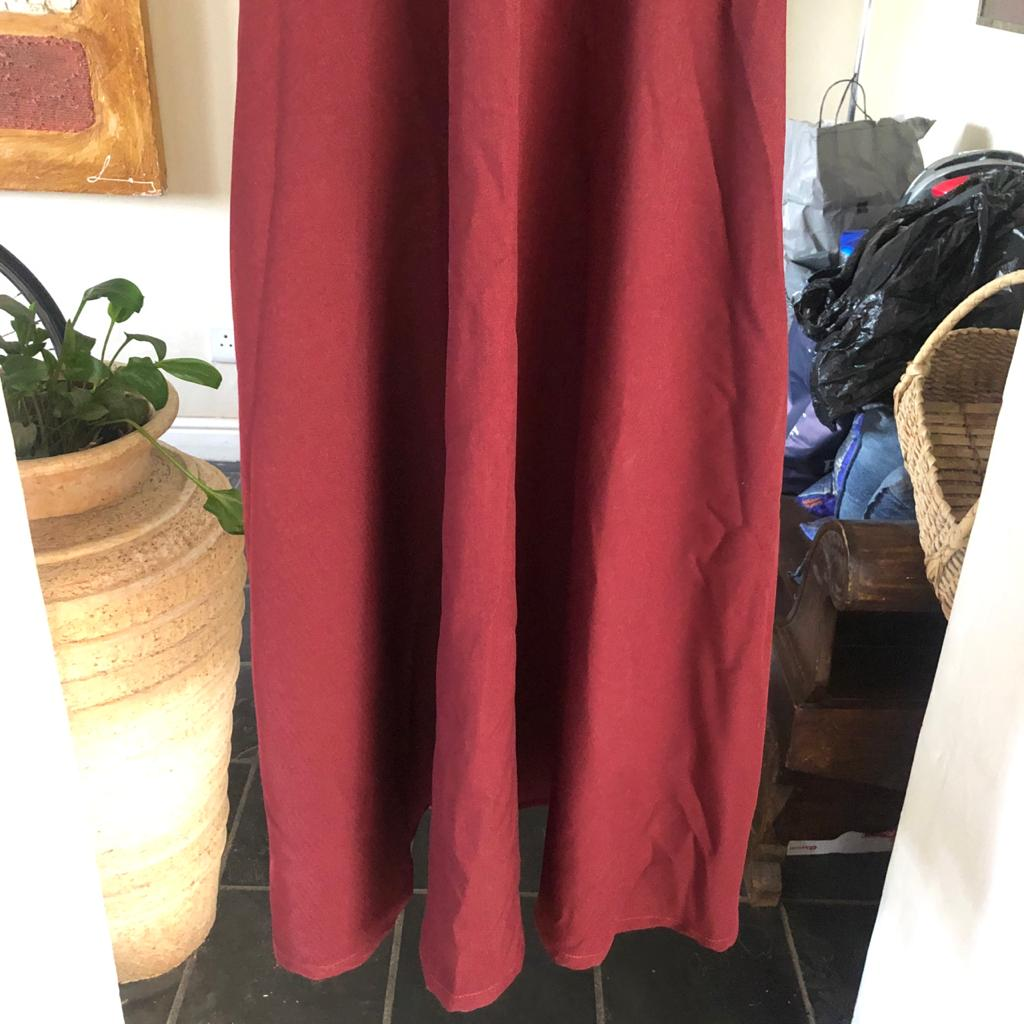 Designer Modest formal dress in rich plum/grape/maroon colour - Size 32-34 - Just in time for Eid!