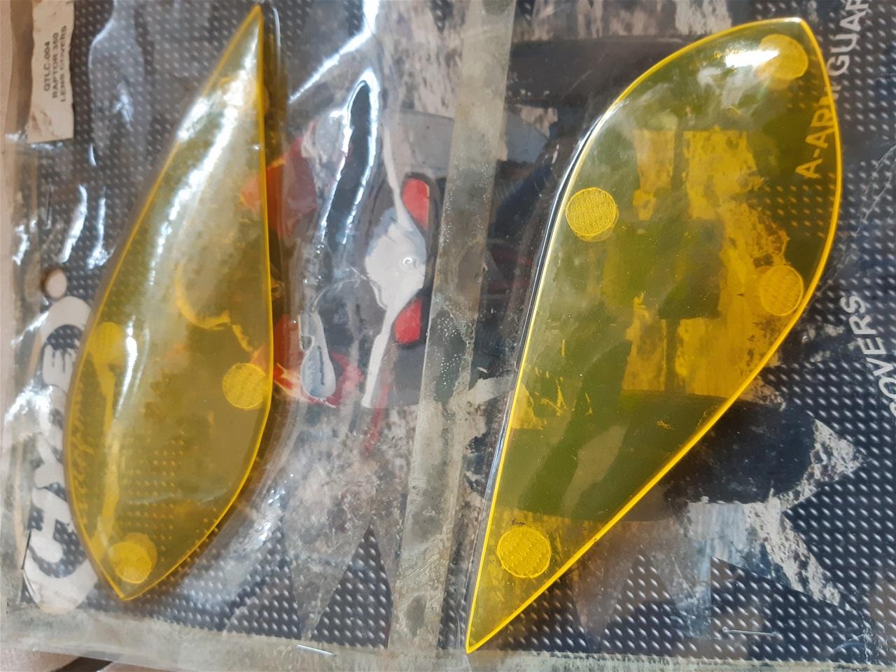 AA17.12 Headlight protector Yamaha Raptor 350 yellow