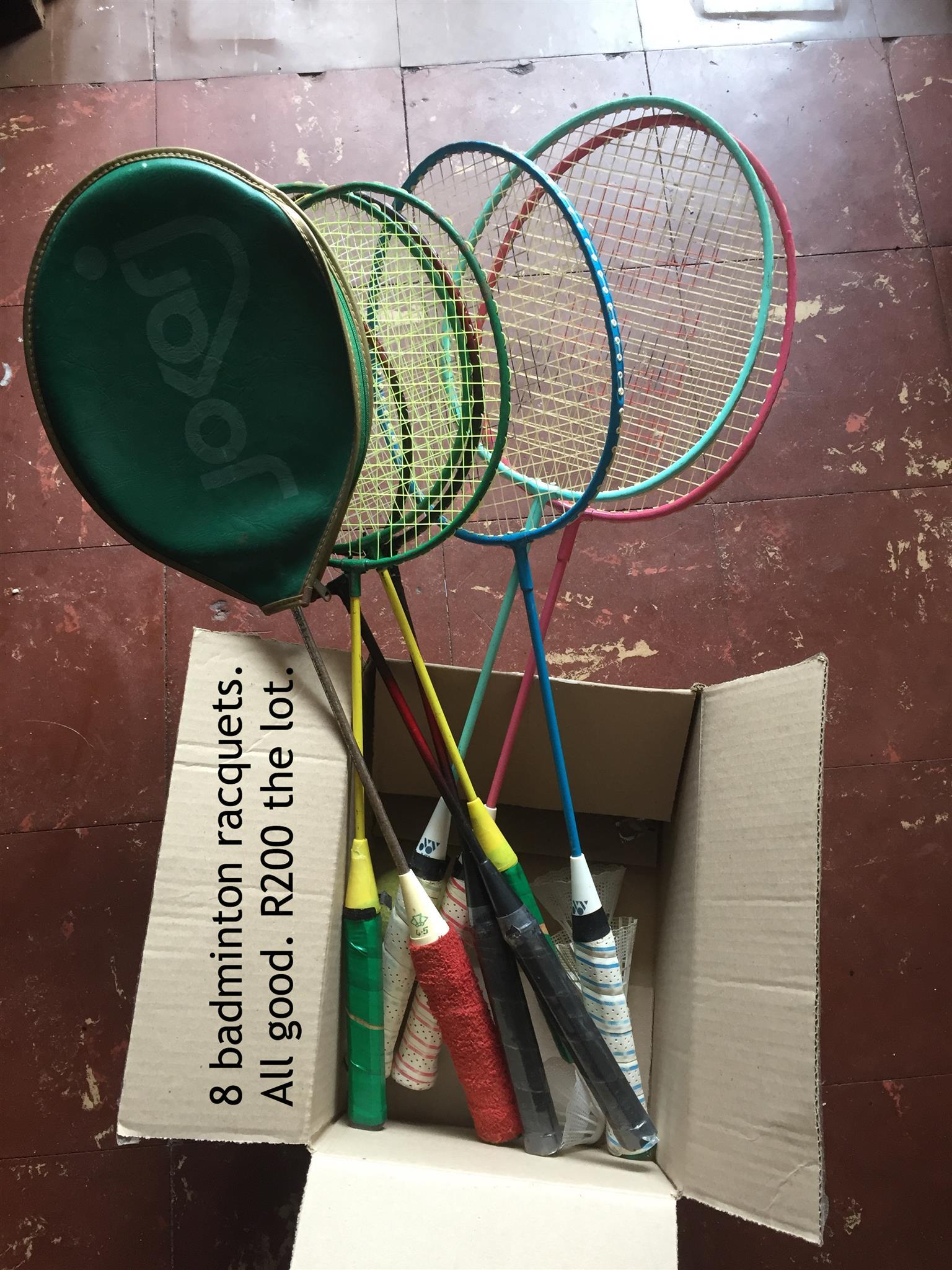 Badminton racquets x8