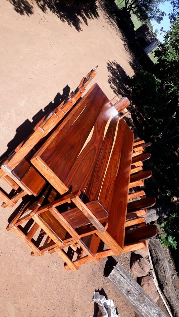 12 Seater Sleeper wood dining room set