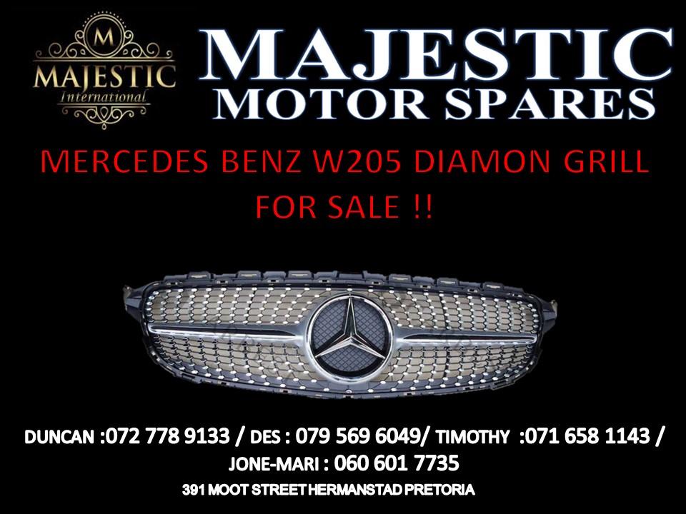 MERCEDES BENZ W205 DIAMOND GRILL