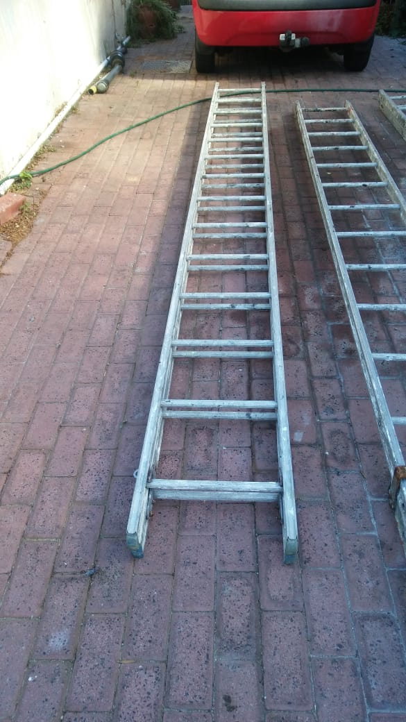 Aluminium Builders/painters ladders. Used but still in working condition.