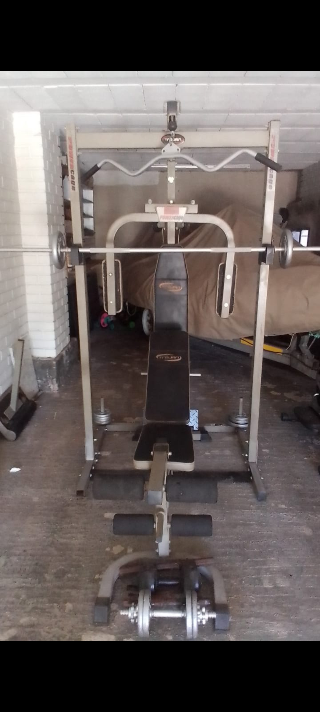 Trojan power cage home gym