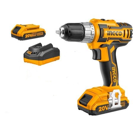 Ingco Cordless Drill + 1 Battery + Charger