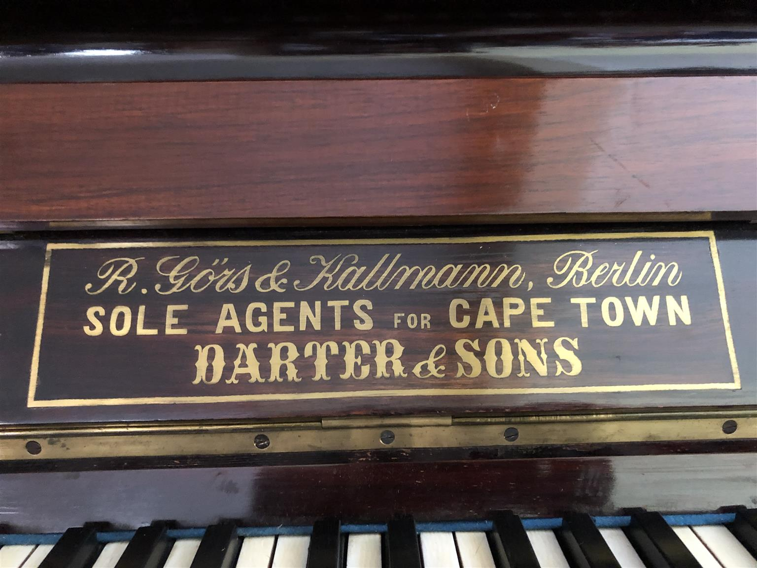Piano Upright R.Gors & Kallman - Serial no: 21806 date of manufacture 1896