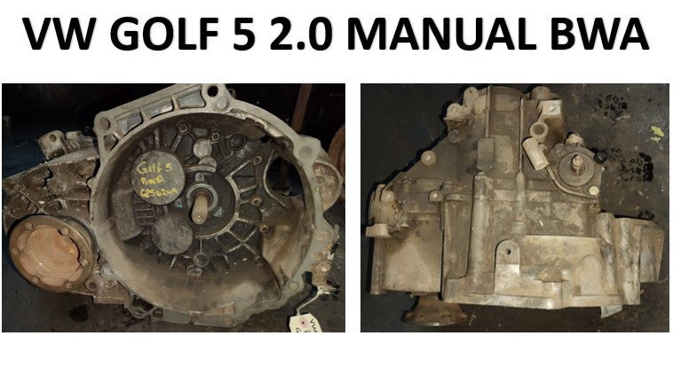 MANUAL GEARBOX FOR VW GOLF 5 2.0 PETROL 2006 BWA