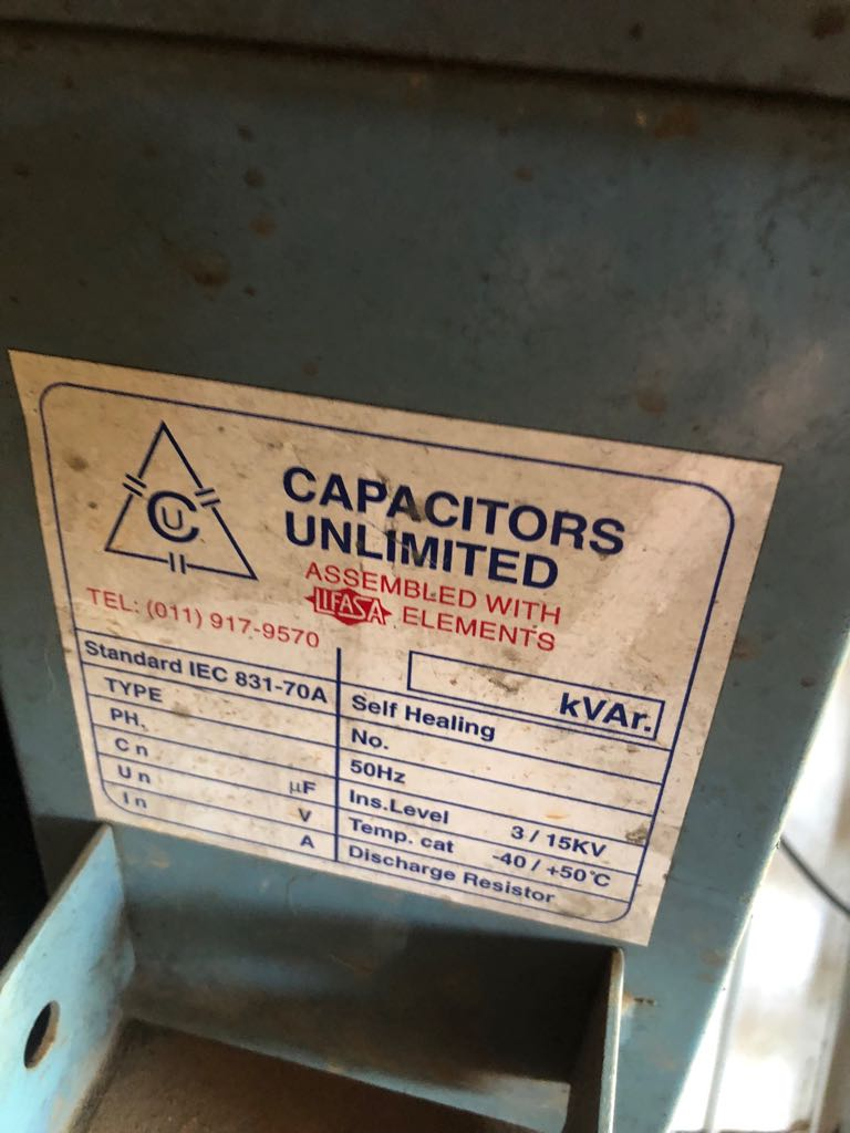 Power Factor Capacitors 2 Banks 2nd Hand Junk Mail