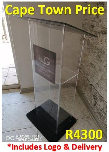 ECG U-Shape Podium, Black Top & Base Easter Sale