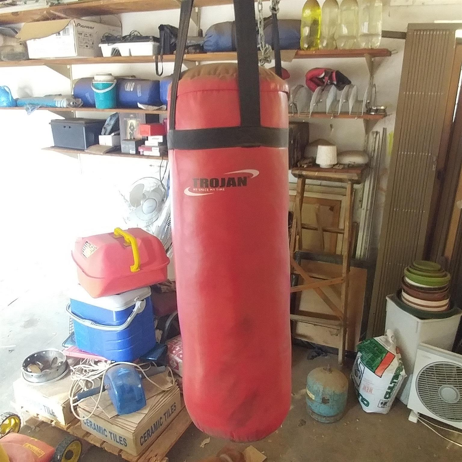 Trojan punching bag with gloves