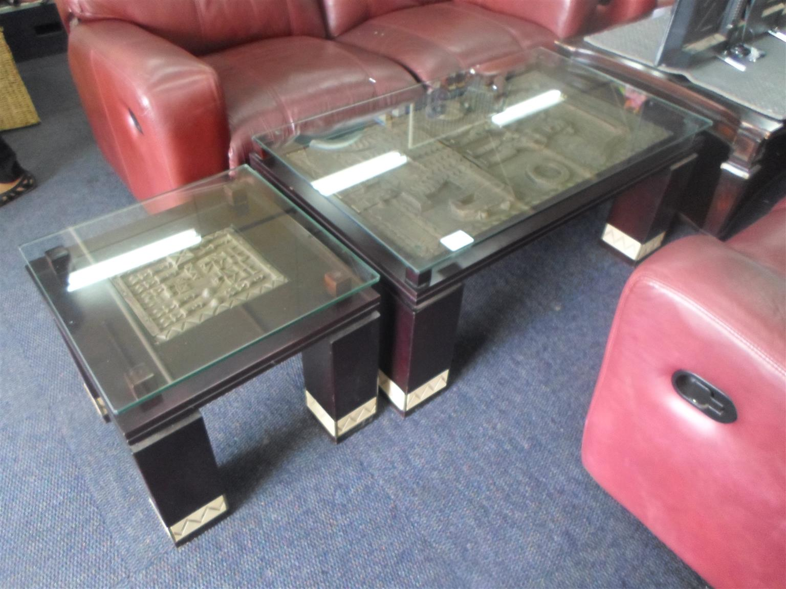 Wooden Glass Top Coffee Tables
