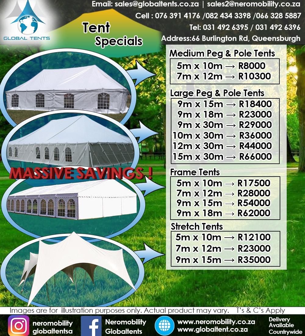 Global Tent Specials
