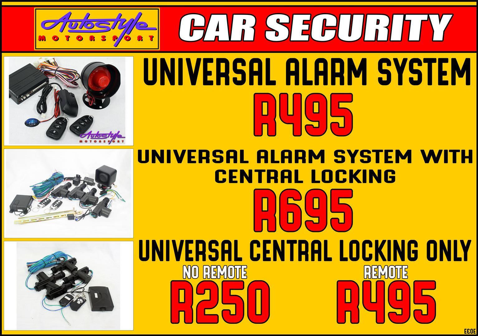 Alarm security system universal
