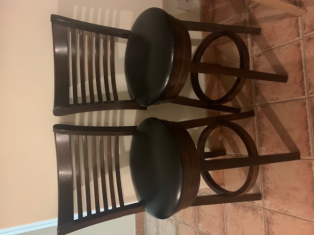Twin Bar chairs for sale