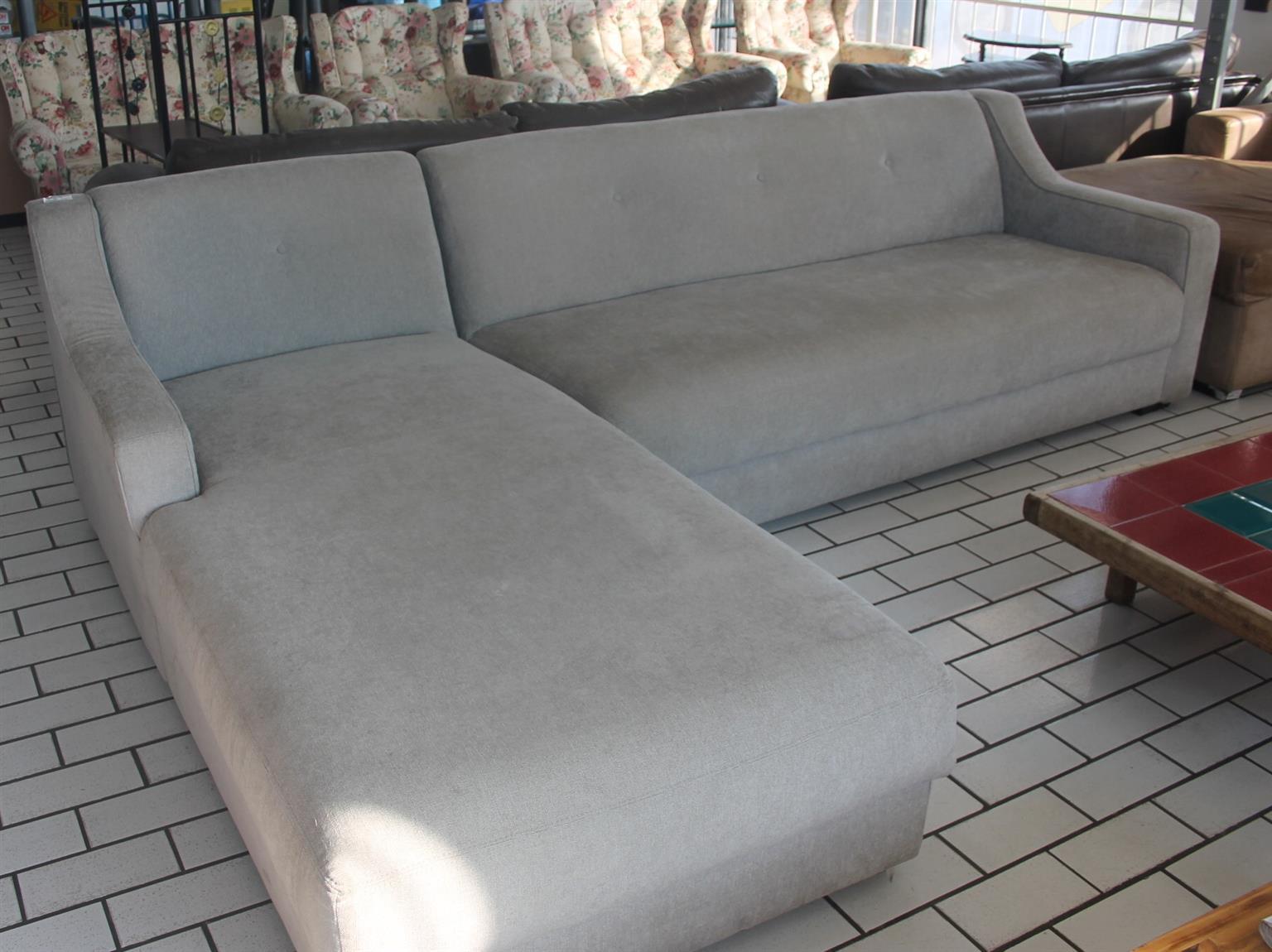 Coricraft grey l-shape couch S045820A #Rosettenvillepawnshop