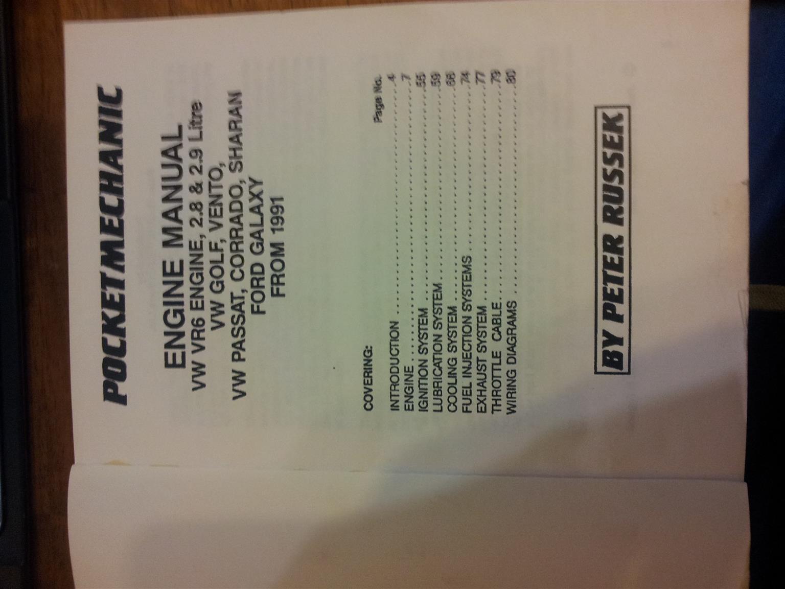 Vw Vr6 Engine Pocket Mechanic Repair Manual Peter Russek Imported Vento Wiring Diagram Edition