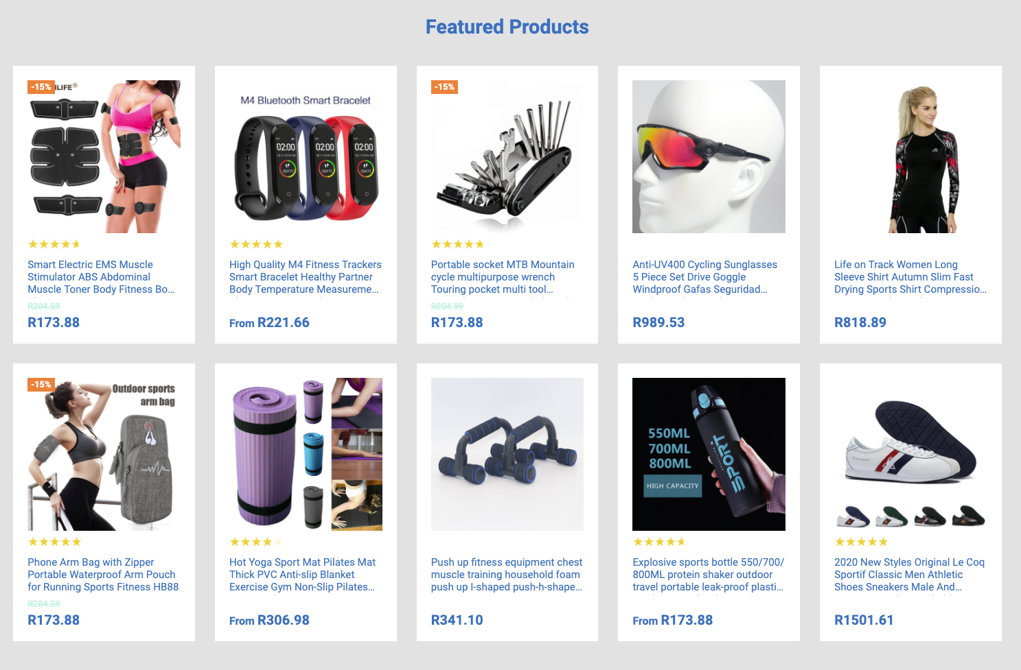 Your Own Online Store in 24 HOURS!!!  TheFitnessFrenzy | 200+ Products