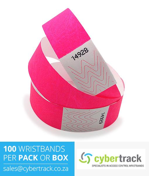 100 Tyvek Wristband Packs